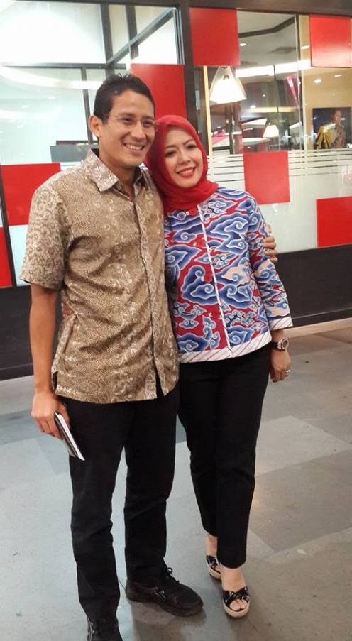 Sandiaga Uno dan istri, Nur Asia Uno. Foto: Hidupgaya